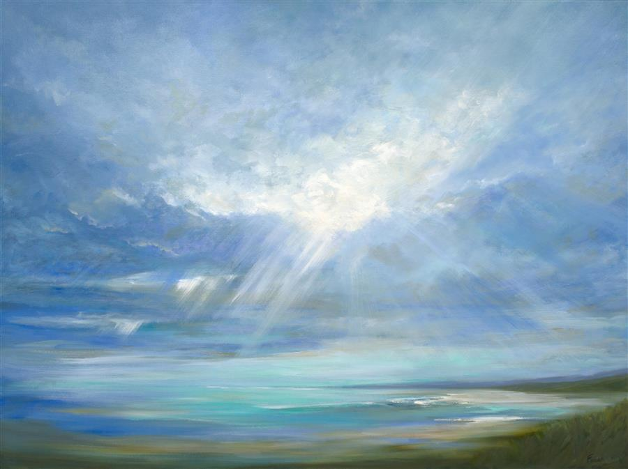 Original art for sale at UGallery.com | Heavenly Light XVI by SHEILA FINCH | $6,050 | Oil painting | 36' h x 48' w | ..\art\oil-painting-Heavenly-Light-XVI