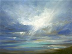 Impressionism art,Nature art,Seascape art,oil painting,Heavenly Light XVI
