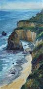 Impressionism art,Nature art,Seascape art,oil painting,Matador Beach Vertical