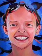People art,Pop art,oil painting,Cosmos Swimmer