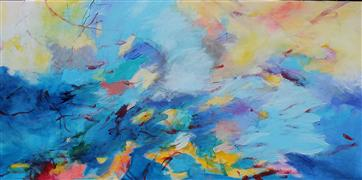 Abstract art,Expressionism art,Seascape art,acrylic painting,I Feel Free