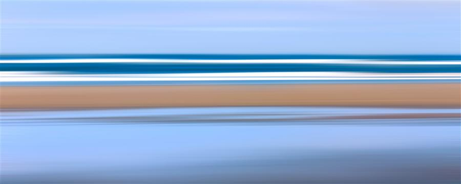 Original art for sale at UGallery.com | Pacific Stripes by Katherine Gendreau | $250 | photography | 28' h x 12' w | ..\art\photography-Pacific-Stripes