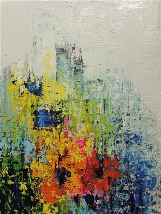Original art for sale at UGallery.com | Structured by MIA TARDUCCI | $2,750 |  | 40' h x 30' w | ..\art\oil-painting-Structured