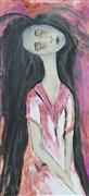 Expressionism art,People art,acrylic painting,Zombie in a Pink Dress