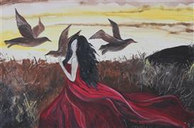 Animals art,People art,Surrealism art,acrylic painting,Dream Catcher
