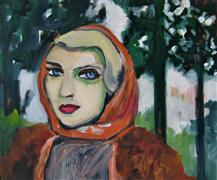 Expressionism art,People art,Pop art,oil painting,Fur Coat in the Forest