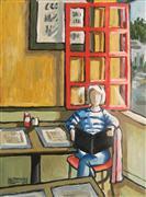 buildings art,impressionism art,people art,travel art,oil painting,Boston Pub