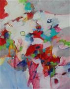 Abstract art,Children's art,acrylic painting,Cherry Fizz Candy