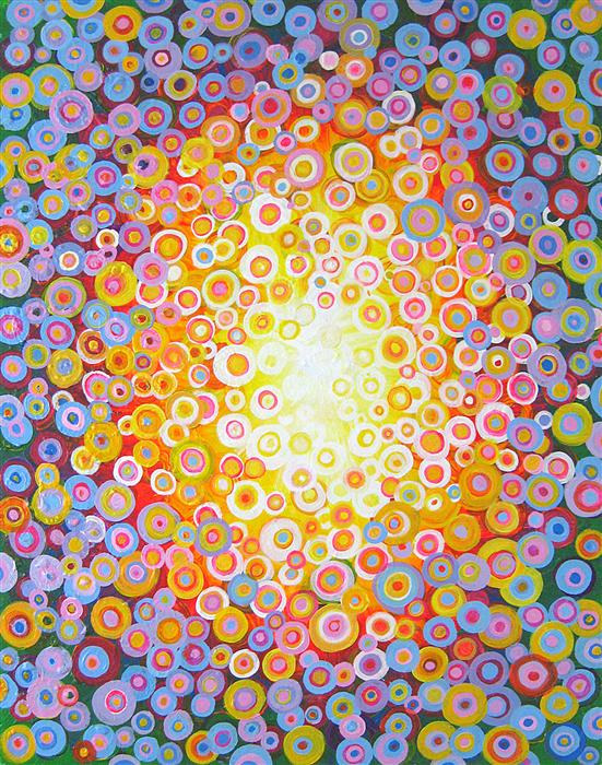 Original art for sale at UGallery.com | Mandala by NATASHA TAYLES | $925 |  | 28' h x 22' w | ..\art\acrylic-painting-Mandala