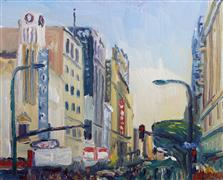 Architecture art,Impressionism art,City art,oil painting,8th & Broadway Streets