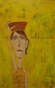 people art,acrylic painting,The Yellow Woman