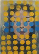 Abstract art,People art,Pop art,acrylic painting,Yellow Dots
