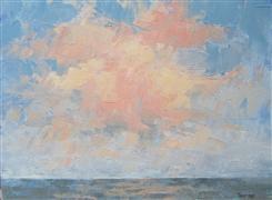 Abstract art,Impressionism art,Seascape art,oil painting,Sunrise