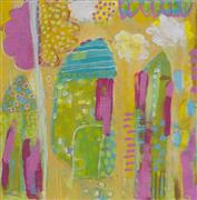 Abstract art,Architecture art,Children's art,acrylic painting,Bright Houses