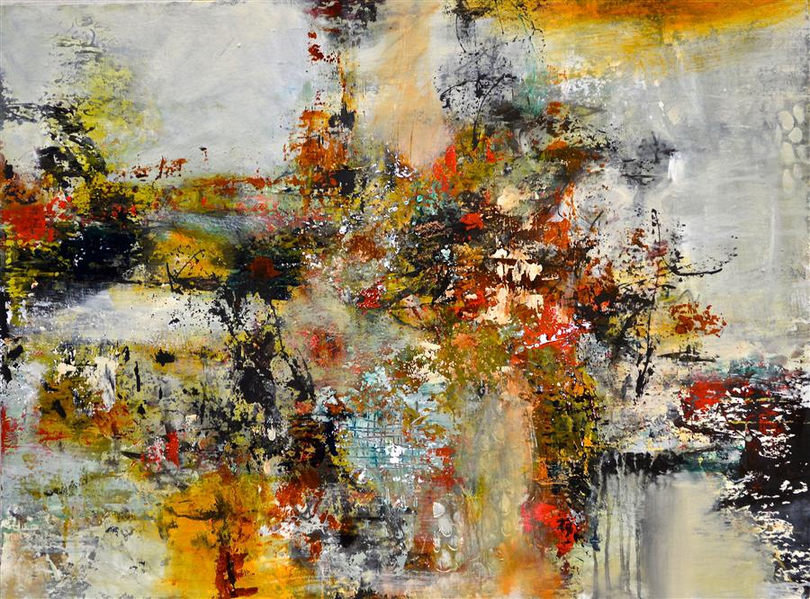 Original art for sale at UGallery.com | Fall Back by DL WATSON | $1,925 |  | 30' h x 40' w | ..\art\acrylic-painting-Fall-Back