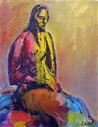 Expressionism art,Nudes art,People art,oil painting,The Prayer