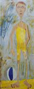 People art,Sports art,acrylic painting,At the Beach