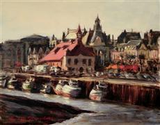 Architecture art,Impressionism art,Landscape art,Travel art,oil painting,Trouville, France