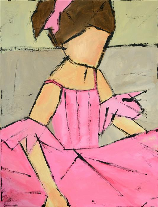 Original art for sale at UGallery.com | Little Ballerina by TANYA GRABKOVA | $925 |  | 24' h x 18' w | ..\art\acrylic-painting-Little-Ballerina