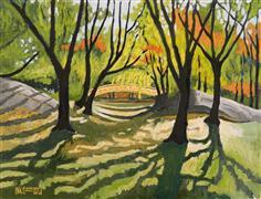 Landscape art,Nature art,City art,oil painting,Central Park