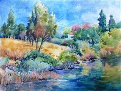 Landscape art,Nature art,watercolor painting,Last Days of Summer