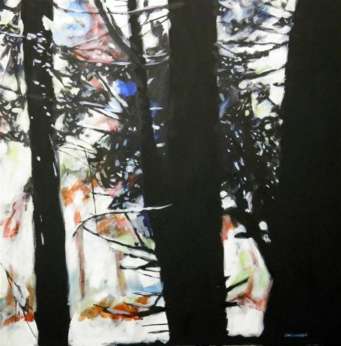 Original art for sale at UGallery.com | Redwoods #5 by CHRIS WAGNER | $2,000 | Acrylic painting | 36' h x 36' w | ..\art\acrylic-painting-Redwoods-5