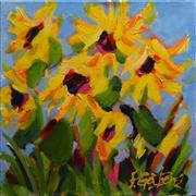 Nature art,Flora art,acrylic painting,Sunflower Patch