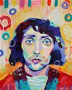 People art,Pop art,acrylic painting,E=MO2 Emo Philips