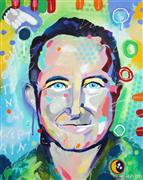 People art,Pop art,acrylic painting,O'Captain, My Captain Robin Williams