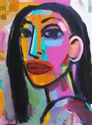 Expressionism art,People art,Pop art,acrylic painting,San Francisco Girl