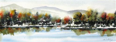 Landscape art,Western art,watercolor painting,September In New Mexico