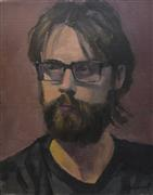 Impressionism art,People art,oil painting,Man with Beard