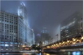 Architecture art,City art,photography,Chicago A La Nuit