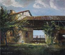 Architecture art,Impressionism art,oil painting,Jarzac