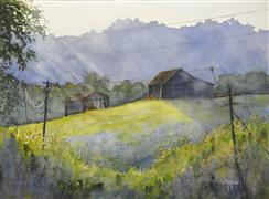 Architecture art,Landscape art,Nature art,watercolor painting,Electricity in the Air