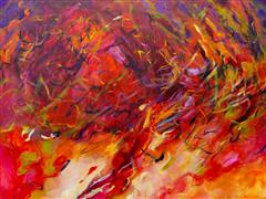 Abstract art,Expressionism art,acrylic painting,Of Light and Flight