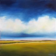 Landscape art,Nature art,oil painting,Stormy Day Marsh II