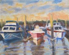 Seascape art,Vroom Vroom! art,oil painting,In Their Slips