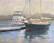 Impressionism art,Seascape art,Vroom Vroom! art,oil painting,Ketch of the Day