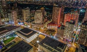 Architecture art,Landscape art,City art,photography,Looking Down on Lincoln Center