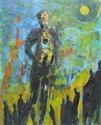 Expressionism art,People art,acrylic painting,Enlightened