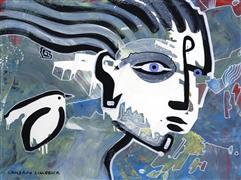 Expressionism art,Fantasy art,People art,acrylic painting,Dream 31