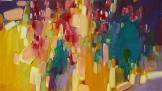 abstract art,botanical art,oil painting,The Play of Lights