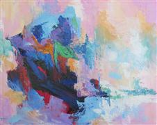 Abstract art,Seascape art,oil painting,Island in the Stream No. 1