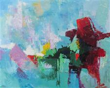 Abstract art,Expressionism art,oil painting,Island in the Stream No. 2