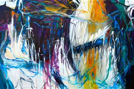 Abstract art,Expressionism art,acrylic painting,Momentary