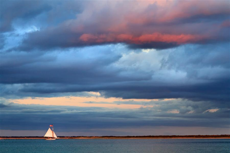 Original art for sale at UGallery.com | Sunset Sail by Katherine Gendreau | $25 | photography | 36' h x 24' w | ..\art\photography-Sunset-Sail