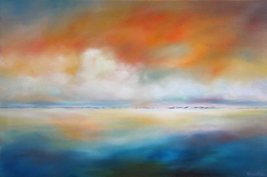 Original art for sale at UGallery.com | Distant Dunes by NANCY HUGHES MILLER | $1,225 | Oil painting | 24' h x 36' w | ..\art\oil-painting-Distant-Dunes