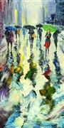 Impressionism art,Landscape art,People art,oil painting,Rainbow Puddles