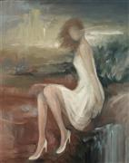 People art,Surrealism art,Representational art,oil painting,After the Storm